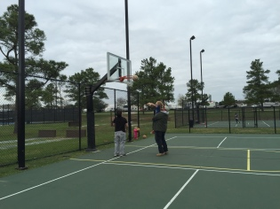MadMac helps Perrin shoot some hoops