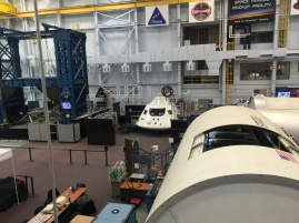 Orion capsule in the back